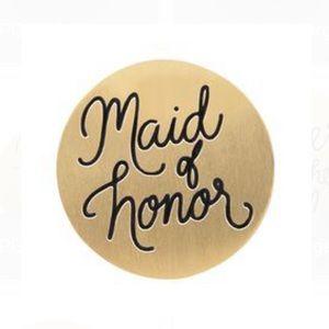 3/$15 🖤 Origami Owl 🖤 Maid of Honor Medium Plate